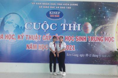 Trường THCS Thị trấn tham gia cuộc thi KHKT cấp tỉnh năm học 2020-2021