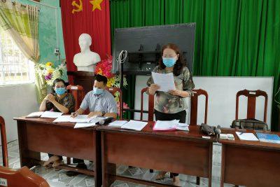 Chi bộ trường THCS Thị Trấn phấn đấu tổ chức giám sát đảng viên trên 35 % trong năm 2021.