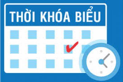 Thời khóa biểu áp dụng từ ngày 30/11/2020