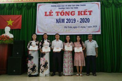 Một số hình ảnh lễ tổng kết năm học 2019-2020 của Trường THCS Thị Trấn